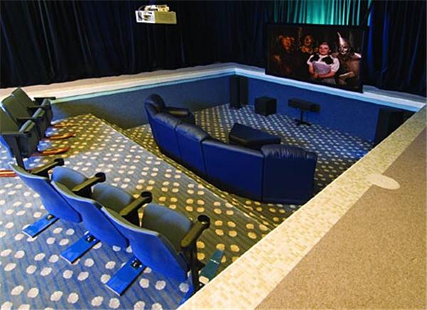 Indoor pool home theatre